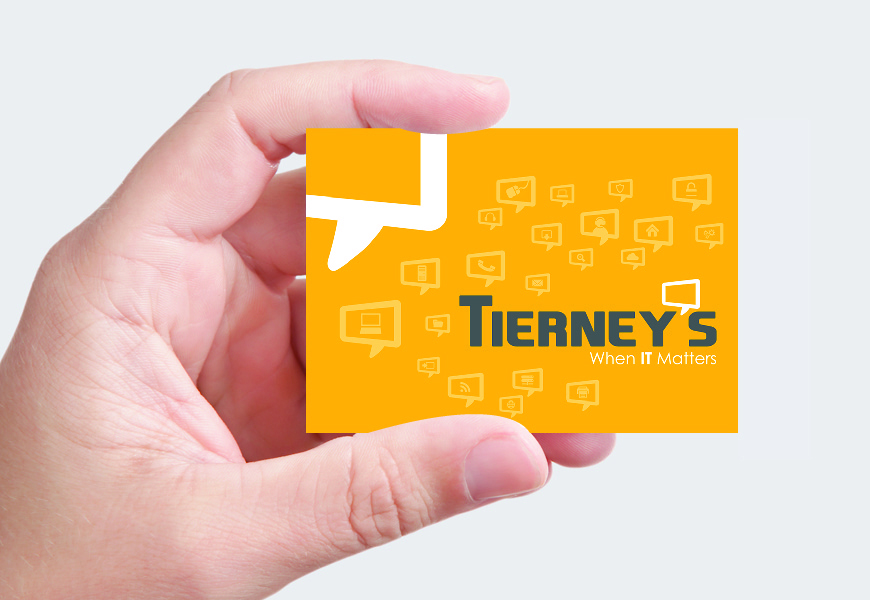 Business card, hand,yellow