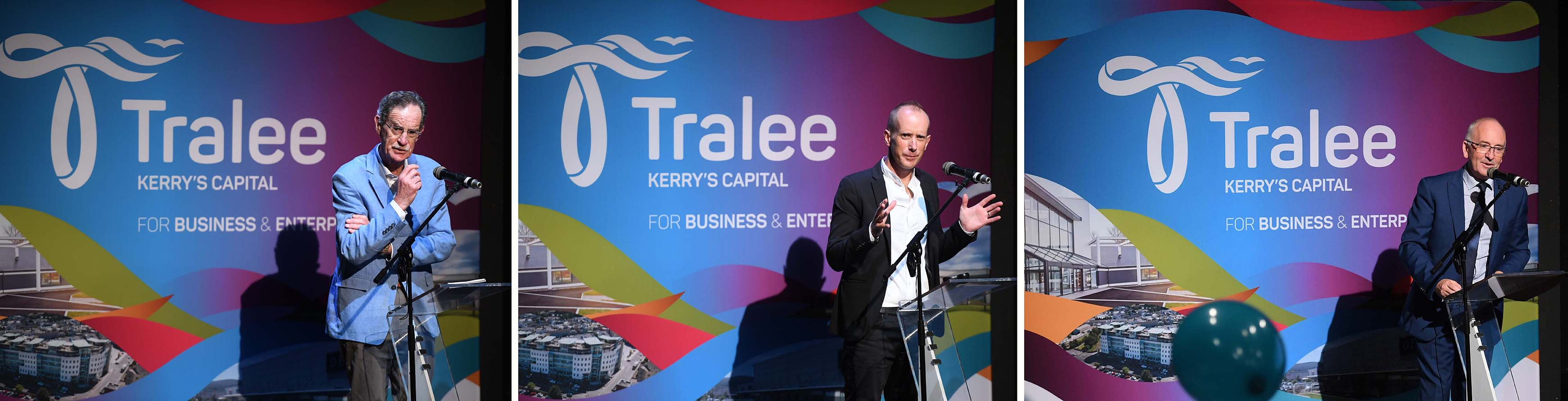 REPRO FREE - JOB creation is the key focus for Tralee Chamber Alliance with the appointment today of Dick Spring as the Business Development Ambassador for Kerry's Capital Town. The former Tánaiste's first duty in the new role was to unveil the new Tralee Brand. Created by the business community of Tralee for everyone in Tralee, the Brand will showcase the town with a vibrant image and strengthen its case when attracting investment, promoting tourism and help position Tralee as the integral business, technology and retail hub of Kerry. Photo By : Domnick Walsh © Eye Focus LTD © Tralee Co Kerry Ireland Phone Mobile 087 / 2672033 L/Line 066 71 22 981 E/mail - info@dwalshphoto.ie www.dwalshphoto.com